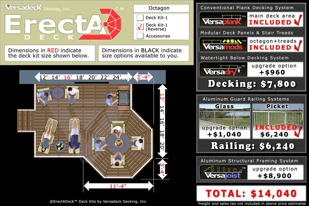 Class A Aluminum Deck System by Versadeck Decking - Fire