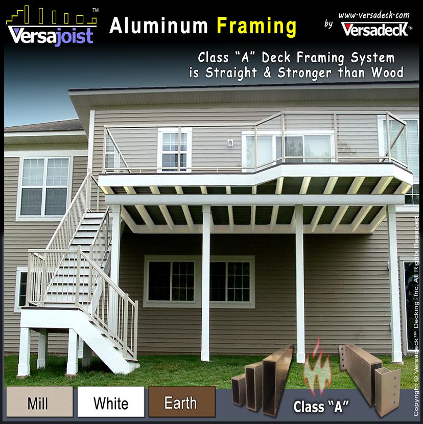 versajoist aluminum deck framing
