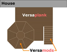 Aluminum Plank Decking Versadeck Versaplank Combined with Versamods Diagram