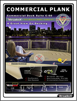 Commercial Plank decking by Versadeck Decking