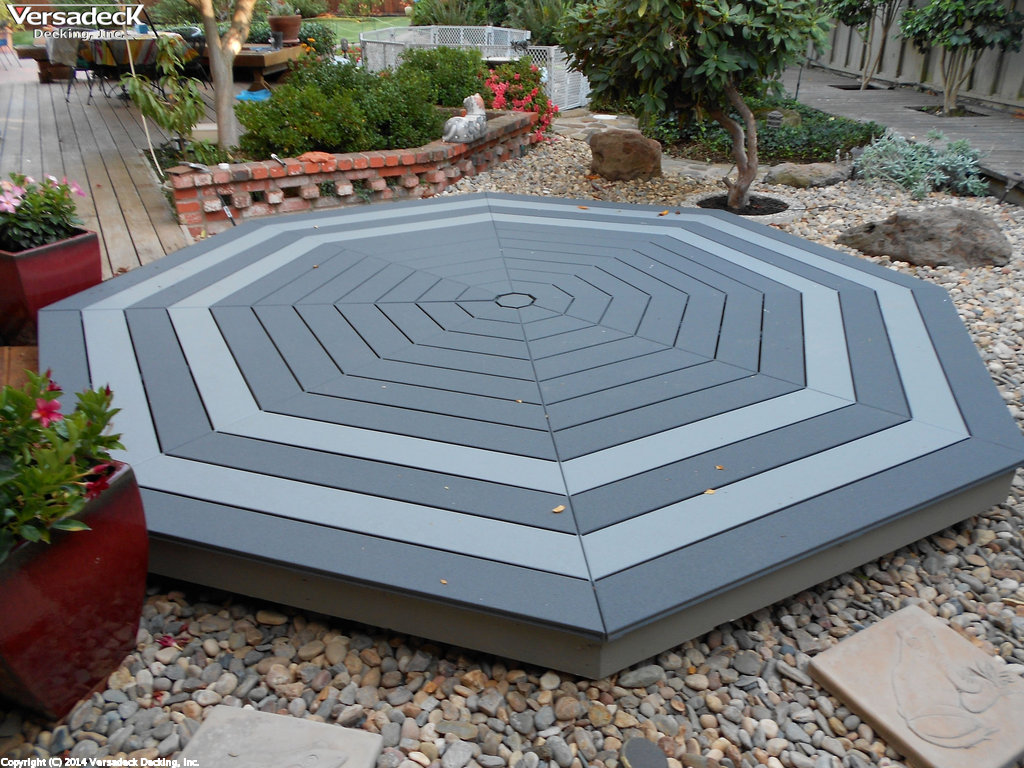 Modular Octagon Decking Kit Two Tone Dk And Lt Slate